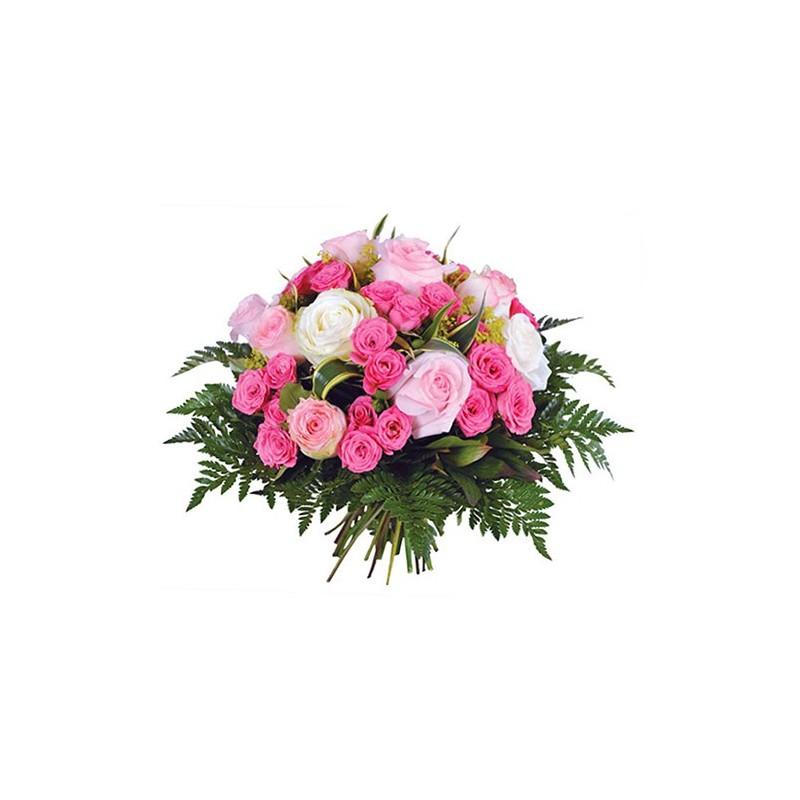 Photo du bouquet deuil de fleurs angelus