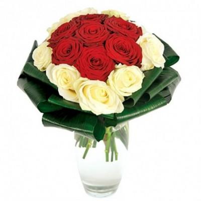 Photo du bouquet de fleurs deuil Rosam