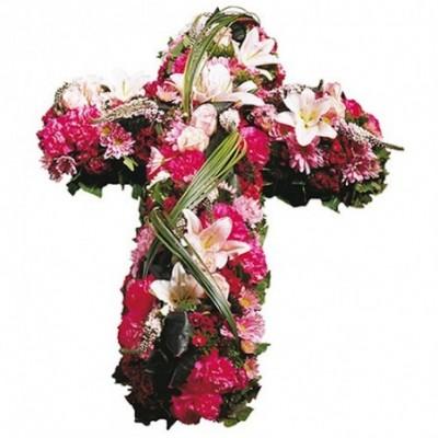 image croix fleurs deuil Ange