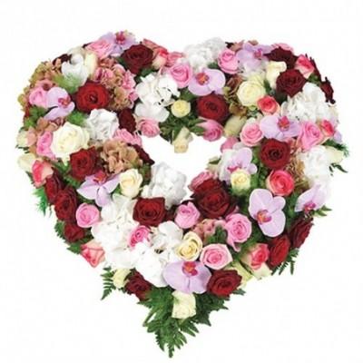 coeur fleuri deuil Sagesse