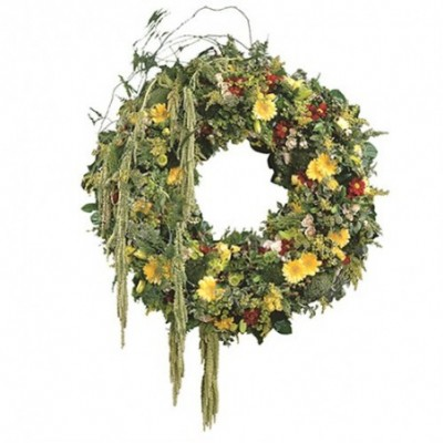 couronne fleurs deuil Infini