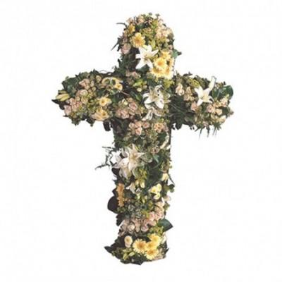 croix fleurie deuil Eternel