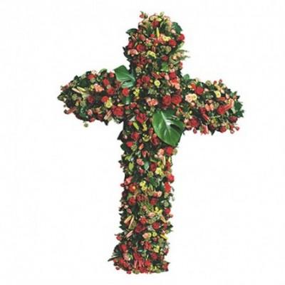 croix fleurs enterrement Flororus