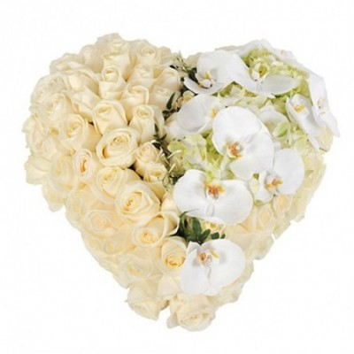 coeur fleurs obsequesTristesse
