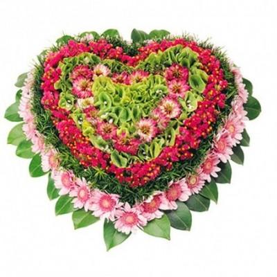 photo coeur fleuri funerailles Paix