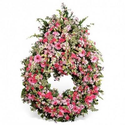 couronne fleurs obseques Hélios