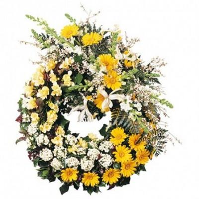 couronne fleurs obseques Iris