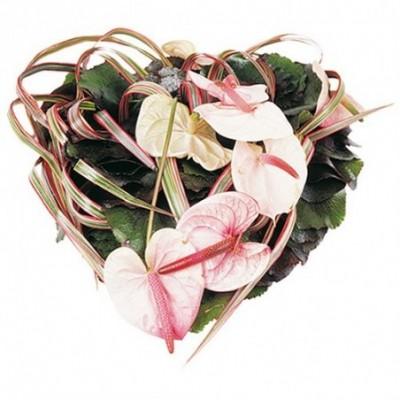 fleurs coeur enterrement Enwen