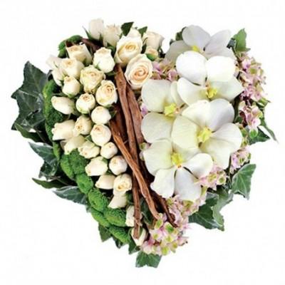 fleurs coeur enterrement Mandulis