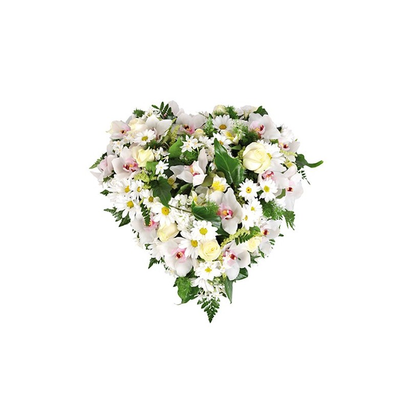 fleurs coeur enterrement Bloom