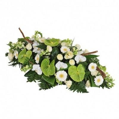 raquette fleurs enterrement Eole