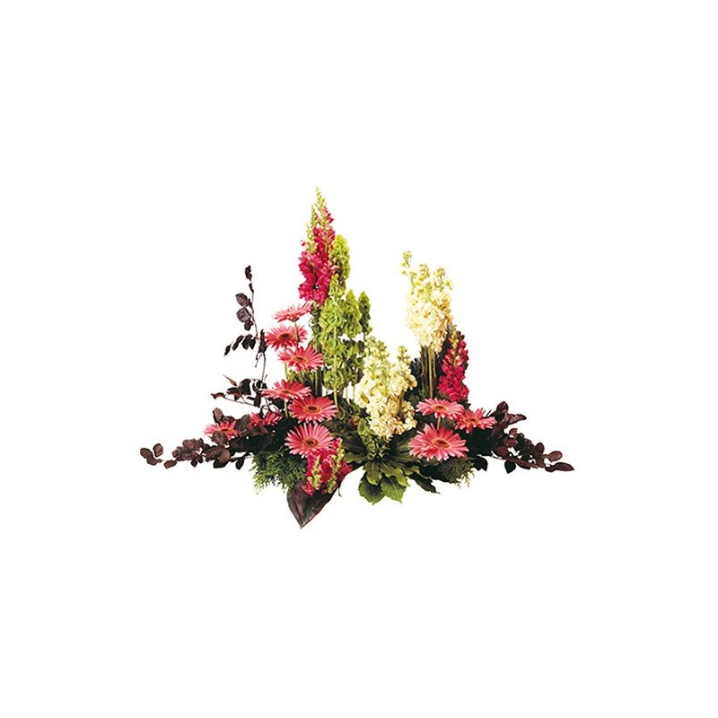 raquette fleurs enterrement Myriel