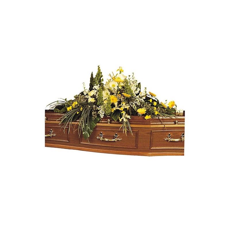 dessus de cercueil deuil fleuri Fleurilège