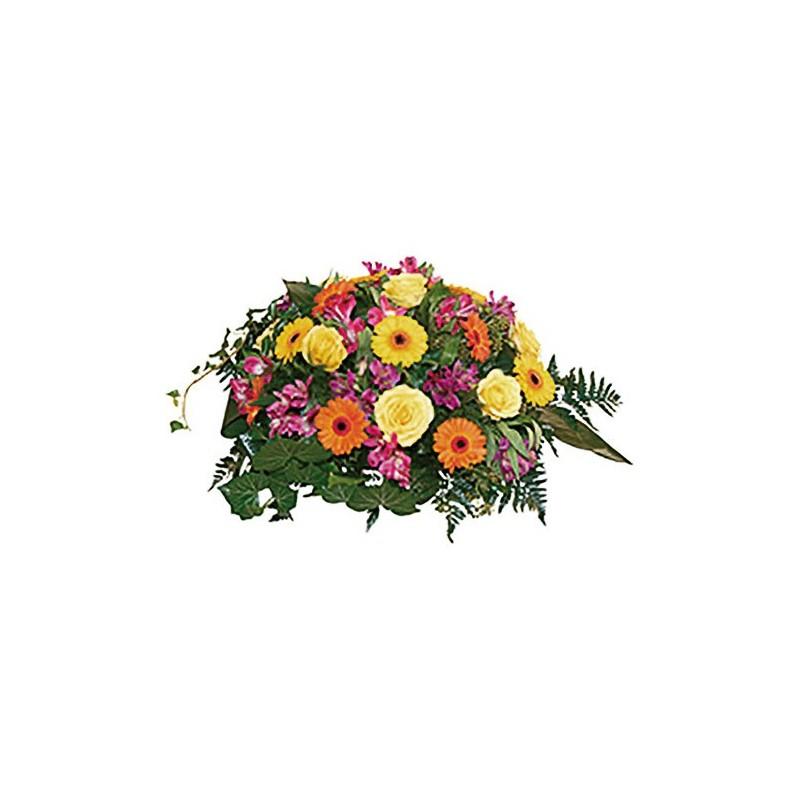 composition florale enterrement Sunset