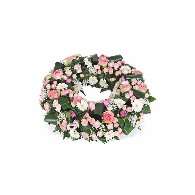 couronne fleurs deuil Céleste