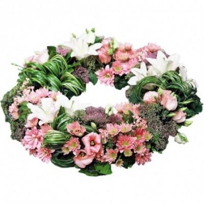 couronne fleurs deuil Ange gardien